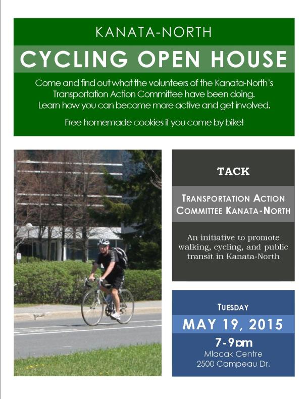 Cycling Open House Letter sized poster