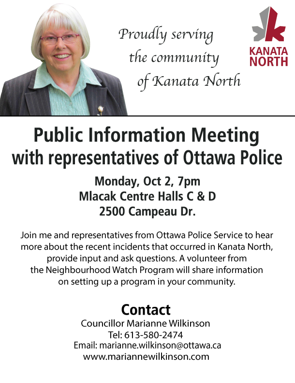 Police Public Information Meeting Oct 2 2017